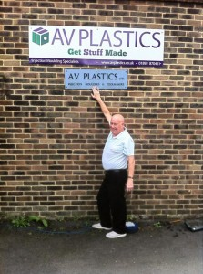AV Plastics injection moulding new sign